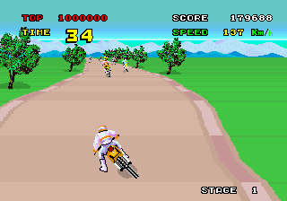 Enduro Racer (YM2151, FD1089B 317-0013A)