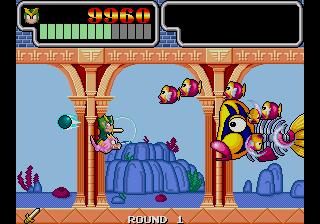Wonder Boy III - Monster Lair (set 3, World, System 16B, FD1094 317-0089)