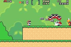 Super Mario World - Super Mario Advance 2 (U)(Mode7)