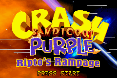 2 in 1 - Crash Bandicoot Purple - Ripto's Rampage & Spyro Orange - The Cortex Conspiracy (U)(Independent)