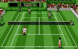 Pete Sampras Tennis (USA, Europe) (J-Cart)