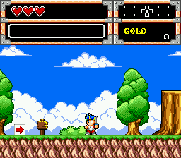 Wonder Boy in Monster World (USA, Europe)