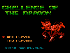 Challenge of the Dragon (Asia) (Unl) (Sachen) (NES)