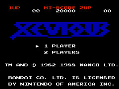 Xevious - The Avenger (USA)