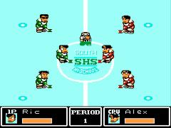 Ike Ike! Nekketsu Hockey Bu - Subette Koronde Dai Rantou (Japan) [En by TransBRC v1.1] (Technos Ice Hockey)