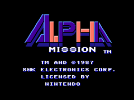 Alpha Mission (Europe)