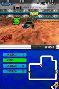 2 Games on 1 Card - Monster Trucks Mayhem & ATV - Thunder Ridge Riders (Europe) (En,Fr,De,Es,It)