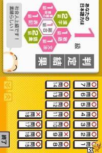 Nihongo Kentei Iinkai Kounin - Nihongo Kentei DS (Japan)