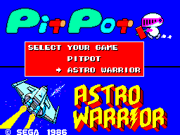 Astro Warrior & Pit Pot (Europe)