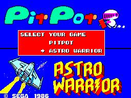 Astro Warrior & Pit Pot (Europe)