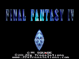 Final Fantasy IV (Japan) (Rev 1) [En by J2e v3.21] [Bug Fix by Deathlike2 v1.0a] (Yang's HP Fix)
