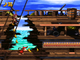 Donkey Kong Country 2 - Diddy's Kong Quest (Germany) (En,De) (Rev A)