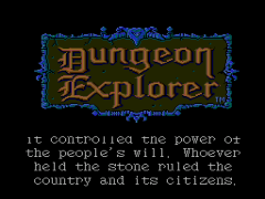 Dungeon Explorer (USA)